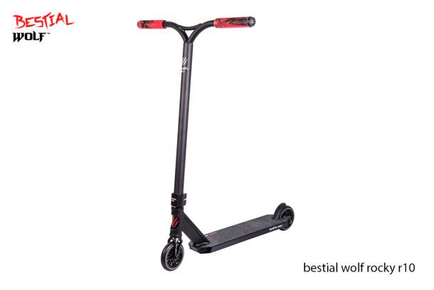 Bestial Wolf Rocky R10 Black ® : Scooter Freestyle de Nivel Avanzado