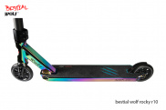 Scooter Freestyle Bestial Wolf Rocky R10 Rainbow, Nivel Medio/Avanzado