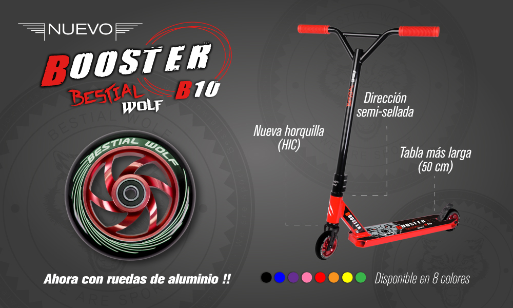 Patinete Bestial Wolf Booster B10
