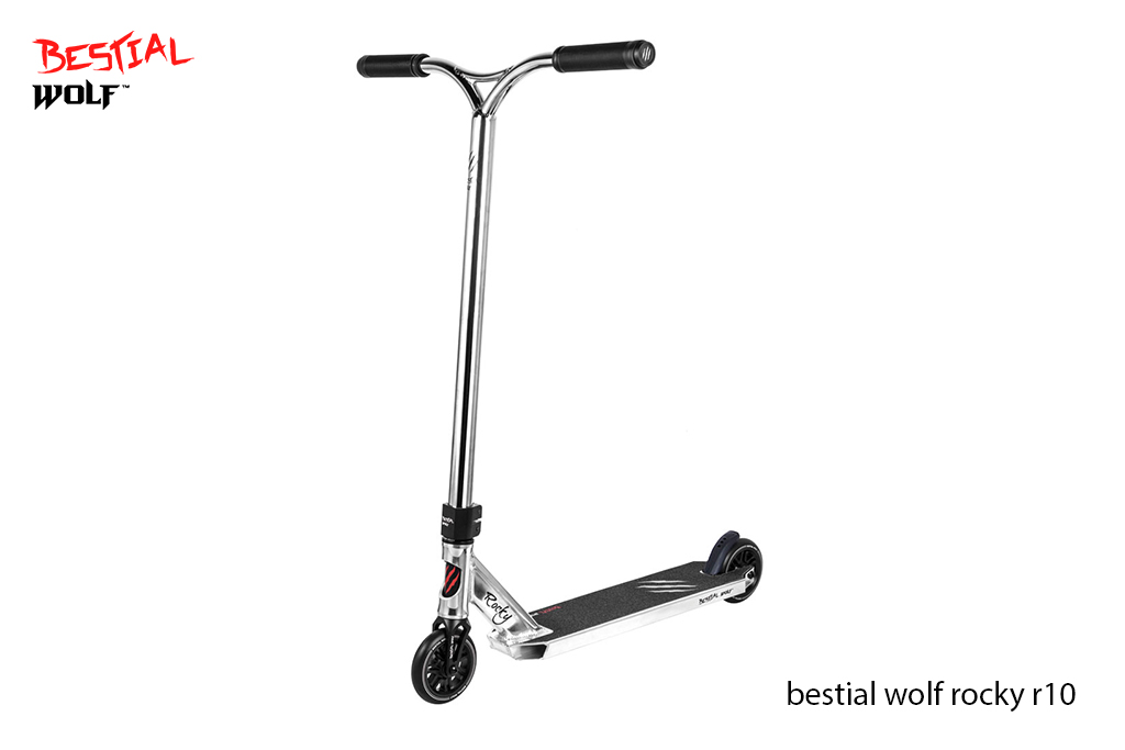 Scooter Freestyle Bestial Wolf Rocky R10 Silver - Nivel medio