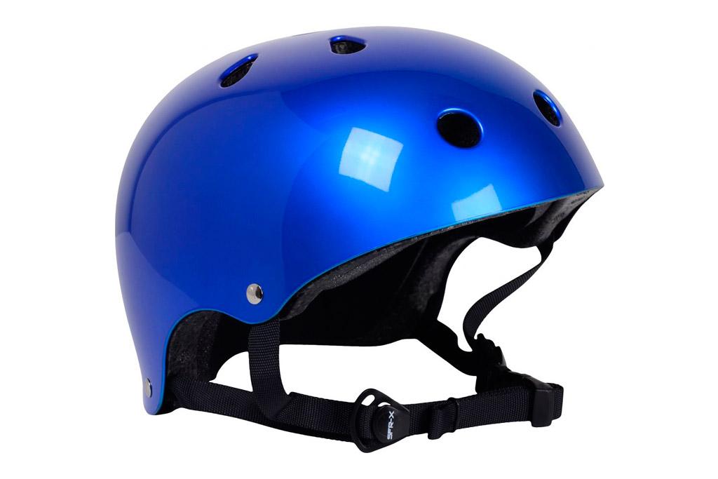 Casco Skate SFR Essentials Azul Metalizado